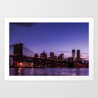 brooklyn bridge Art Prints featuring Brooklyn Bridge by hannes cmarits (hannes61)
