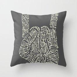 Horns Hand Throw Pillow
