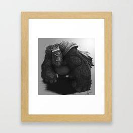 Gorilla King Framed Art Print
