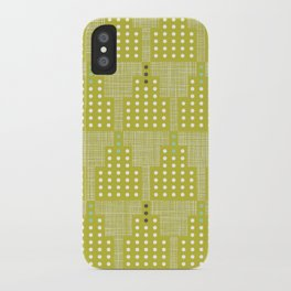 Art Deco Towers Chartreuse iPhone Case