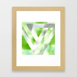Triangle Interlock | Minimalist | Abstract | Modern | Shapes | Geometrix Framed Art Print
