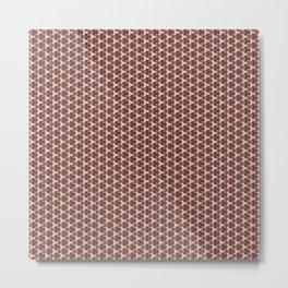 Painted pattern Metal Print