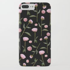 Peonies on Black Slim Case iPhone 7 Plus