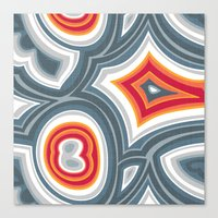 agate Canvas Prints featuring Agate by Alex Morgan