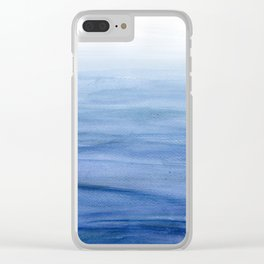 Water Study 3 in Gouache Clear iPhone Case