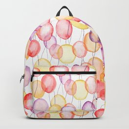 colorful balloon watercolor Backpack
