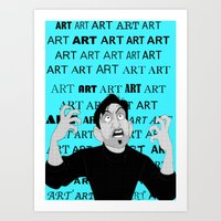 meme Art Prints featuring Art Meme  by Madison Daniels
