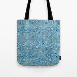 Greek Blue Glass Evil Eye Amulet 2 Tote Bag