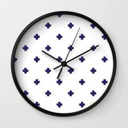 Modern Swiss - Bold Style Cross Plus Sign Wall Clock