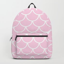 Baby Pink Fish Scales Pattern Backpack