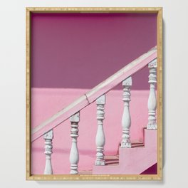 Pink Stairway Serving Tray