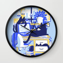 Working From Home Wall Clock