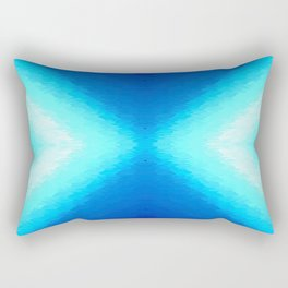 Turquoise Aqua Rectangular Pillow