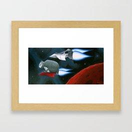 Space Kat Framed Art Print