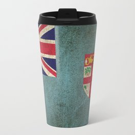 Old and Worn Distressed Vintage Flag of Fiji Travel Mug