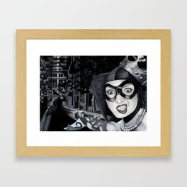 Harley Ooops Framed Art Print