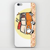 vw bus iPhone & iPod Skins featuring VW BUS//birdy, hippy Life by Laura Pabst  de Cesar