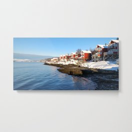Sunny Norway #Snow #nature #landscape #photography Metal Print