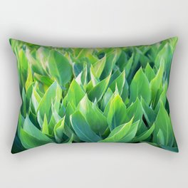 Green leaves so beautiful. Rectangular Pillow