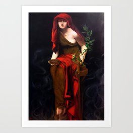 Copy of Priestess of Delphi - John Collier Art Print