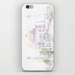 Watercolor landscape illustration_India - Taj Mahal iPhone Skin