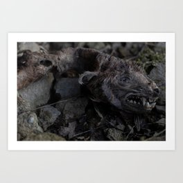 Remains of a Bygone Predator, Decay Art Print