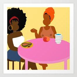 Breakfast For Two Art Print