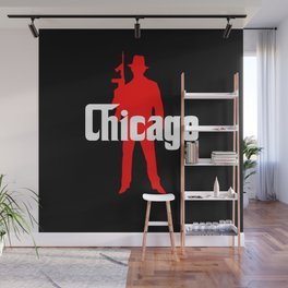 Chicago mafia Wall Mural