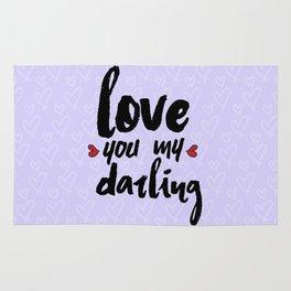 Love You My Darling Rug