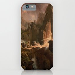 Thomas Cole - Expulsion from the Garden of Eden, 1828 iPhone Case