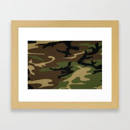 Camo Framed Art Print