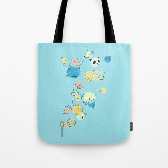 Bubble Animals Tote Bag