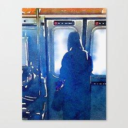 Contemplating the Commute Canvas Print