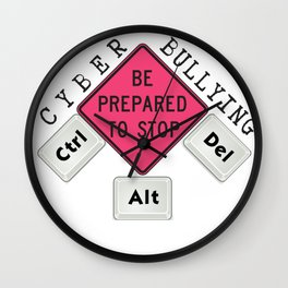 Stop Cyber Bullying Please Wall Clock