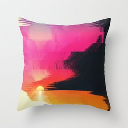 digital beachhead Throw Pillow