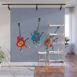 Dancing guitars Wall Mural