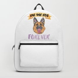 Shepherd Dad Forever Backpack