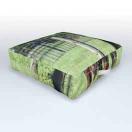 Cow Beyond the Fence Outdoor Floor Cushion