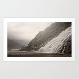 Nugget Falls and Mendenhall Glacier Art Print