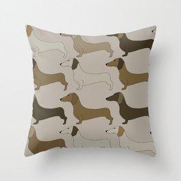 Dachshunds Throw Pillow