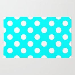 Polka Dots (White/Aqua Cyan) Rug
