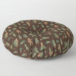 Bigfoot Forest Floor Pillow