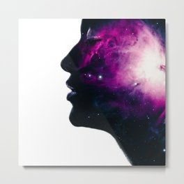 Galaxy Head Metal Print