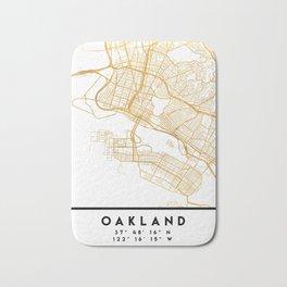 OAKLAND CALIFORNIA CITY STREET MAP ART Bath Mat