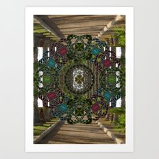 Pinwheel Flowers Art Print