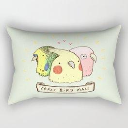 Crazy Bird Man Rectangular Pillow