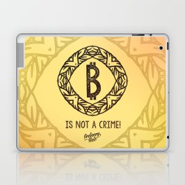 BITCOIN is not a crime! Laptop & iPad Skin