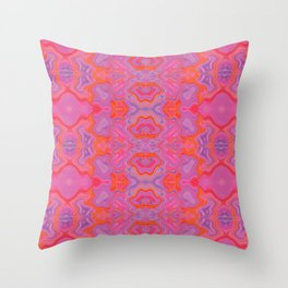 Mad pink marble 2 Throw Pillow