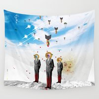 arab Wall Tapestries featuring Alert by Mo.Awwad