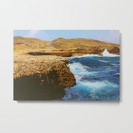 Aruba Island Rocks Metal Print